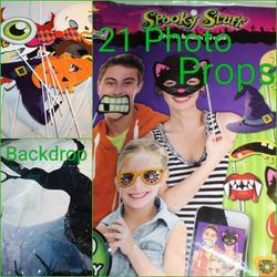 21 Halloween Photo Booth Props for Sale in London,  KY