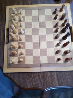 Wood Chess and Backgammon NEW for Sale in Wichita, KS