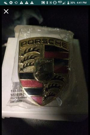 Original PORSCHE 911 Hood Crest OEM--Brand New in Box and Plastic 911 930 964 993 for Sale in Fairfax, VA