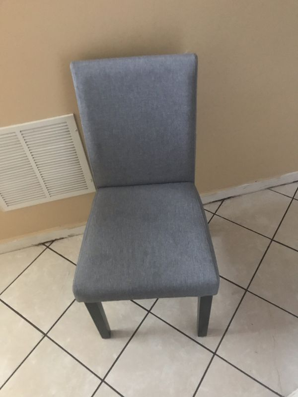 4 gray dining room chairs