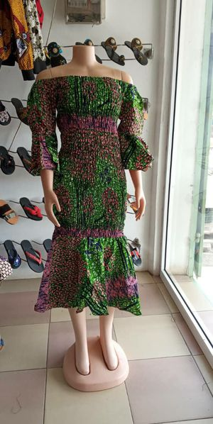 African print stretch dress - size 8 to 10 for Sale in Baltimore, MD