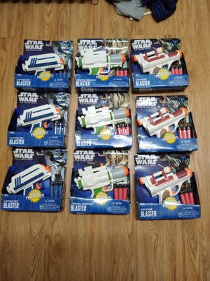 9 star wars Nerf guns. for Sale in Watertown, NY