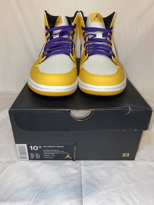 "Air Jordan 1 mid ""Lakers"" for Sale in Los Angeles, CA"