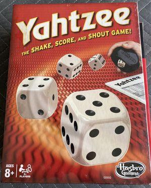 Pokeno & Yahtzee games, both games new. Yahtzee is still sealed. Pokeno is new in box- no shrink wrap for Sale in Bradenton, FL
