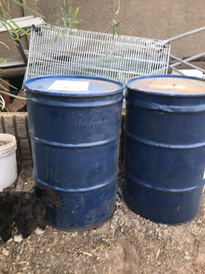 Steel barrels 20.00 for Sale in El Mirage, AZ