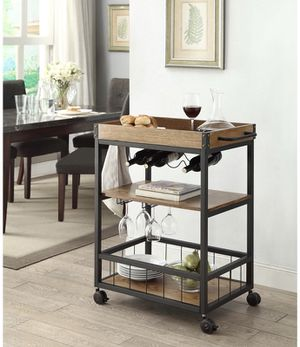 Kitchen / Drink Cart :: Brand new, Assembled :: metal & wood for Sale in Austin, TX