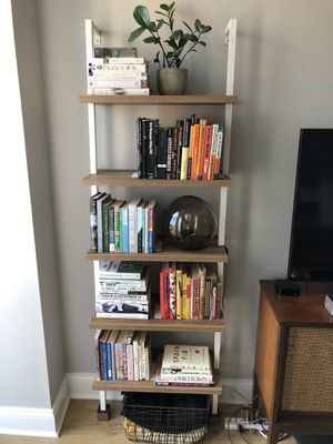 Modern wall bookshelf allmodern white metal 6 feet tall for Sale in Chicago, IL
