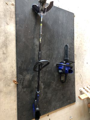 Kobalt 40v max lawn mower chainsaw trimmer for Sale in Clinton, MD