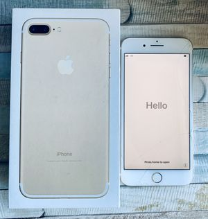 iPhone 7 Plus (Cracked Screen) | 128 GB, Gold | Unlocked for Sale in Redwood City, CA