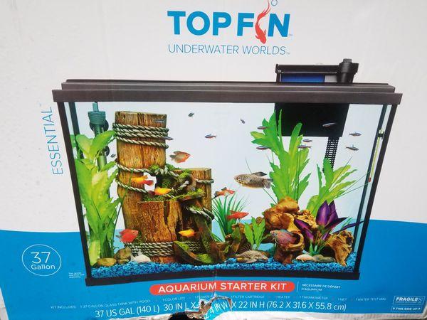37 gallon new aquarium
