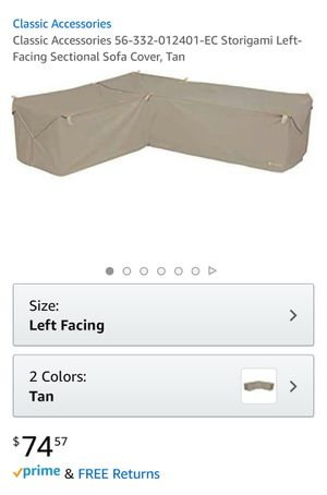 Left-facing Sectional Patio Furniture Cover for Sale in Stafford, VA