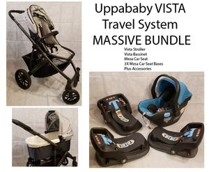 Uppababy VISTA stroller/bassinet/MESA car sear/3 seat based Bundle for Sale in Hollister, CA