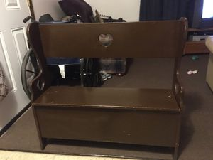 Under seat storage bench hand made for Sale in Independence, MO