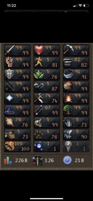 Level 126 RuneScape Account (2268 Total) for Sale in La Mesa, CA
