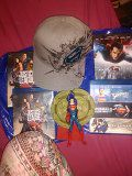 Super man fitted hat action figure 4 Blu-ray two regular dvds for Sale in Pittsburgh, PA