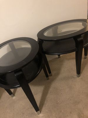 2 LIVING ROOM GLASS TOP TABLES. Send me offers and check my other listings for Sale in Hyattsville, MD