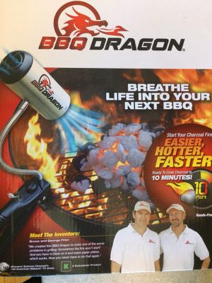 BBQ Dragon High Powered Fan Grill charcoal fire Starter for Sale in Chicago, IL