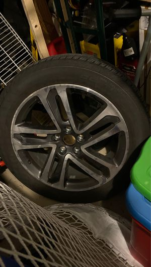 "20"" Acura MDX premium rim with continental cross contact lx sport tire 245/50r20 For $150 And Weather Tech Mats For $80 for Sale in Tampa, FL"
