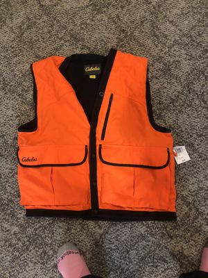 Hunting fishing orange vest for Sale in Fairfax, VA