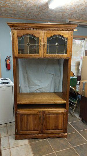 TV oak cabinet for Sale in Westville, NJ