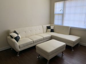 White Apartment style sectional for Sale in Washington, DC