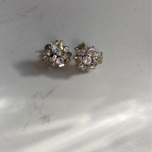 Vintage Faux Diamond Clip-on Earings for Sale in Culver City, CA