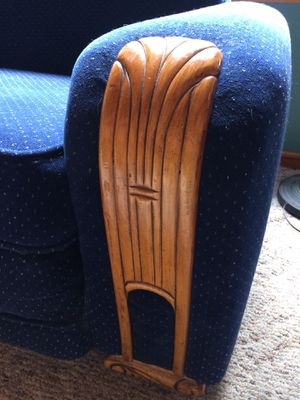 Retro art deco style couch and chair for Sale in Index, WA