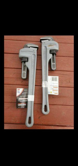 "Ridgid Aluminum 18"" PIPE WRENCH 2 1/2 Pipe Capacity for Sale in Pomona, CA"