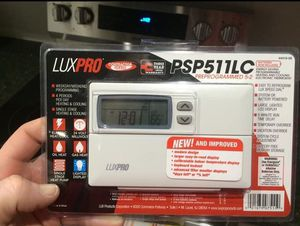 LuxPro Heating & Cooling Electronic Thermostat Model PSP511LC, New for Sale in Dublin, OH