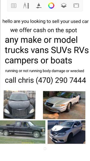 I buy cars trucks RVs boats and camper for Sale in Lilburn, GA