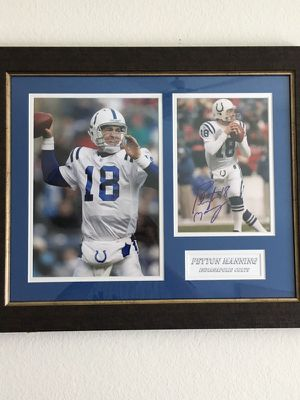 Peyton Manning signed picture when he played for the Colts! for Sale in Tempe, AZ