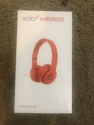 Brand new, unopened Beats Solo3 Wireless Headphones (PRODUCT RED) $175 Model A1796 for Sale in San Diego, CA