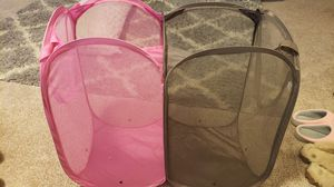Dual sided, collapsible laundry hamper for Sale in Poulsbo, WA