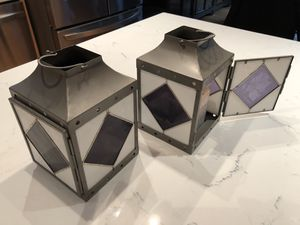 Pair of Stained Glass Lanterns for Sale in Arlington, VA