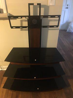 Black Glass TV Stand for Sale in Atlanta, GA