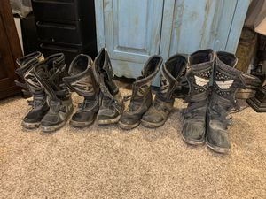 Fly motor cross dirt bike boots $50 for all of them. 2 size 13s, 11 and 8 men's for Sale in Las Vegas, NV