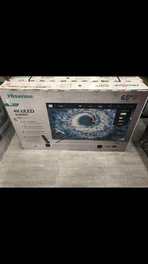 65 INCH HISENSE 8F 4K ANDROID SMART TV for Sale in Chino Hills, CA
