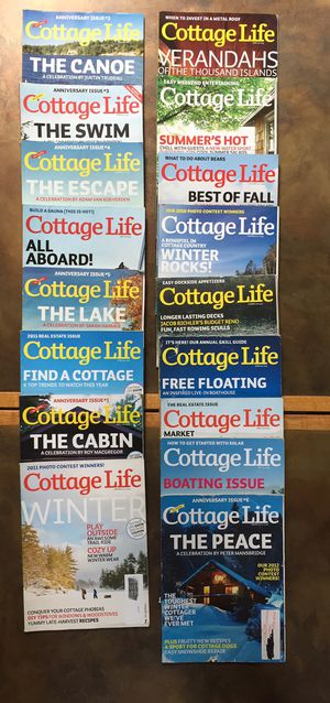 Lot of 18 COTTAGE LIFE MAGAZINES BACK ISSUES 2010-2012 for Sale in Renton, WA