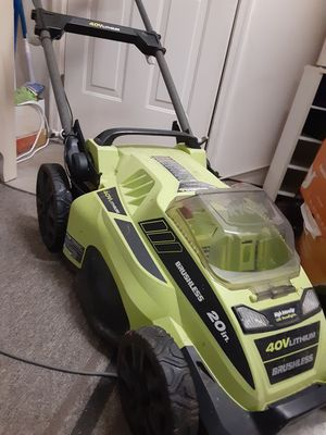 Ryobi 40v push mower with charger 20 inch cutting width. for Sale in Knoxville, TN