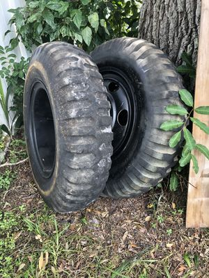 Two military tires and wheels for Sale in Saint Petersburg, FL