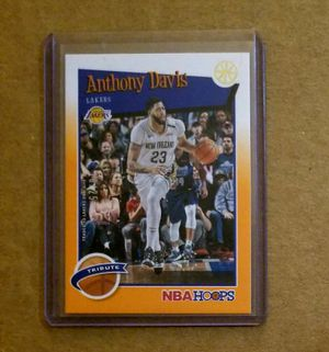 2019-20 Panini Hoops short print Anthony Davis orange refractor serial numbered /25 for Sale in Nederland, TX