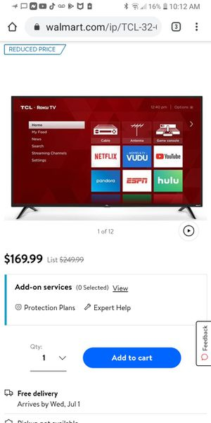 Tcl roku tv 32in for Sale in Houston, TX