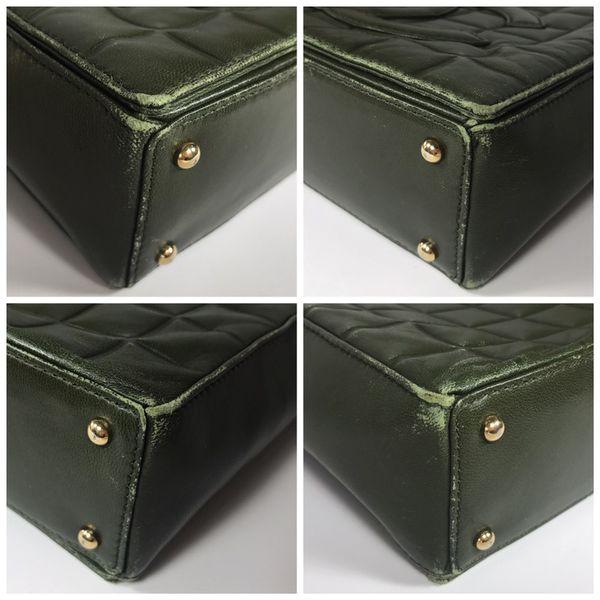 Authentic CHANEL Lambskin Green Shoulder Bag