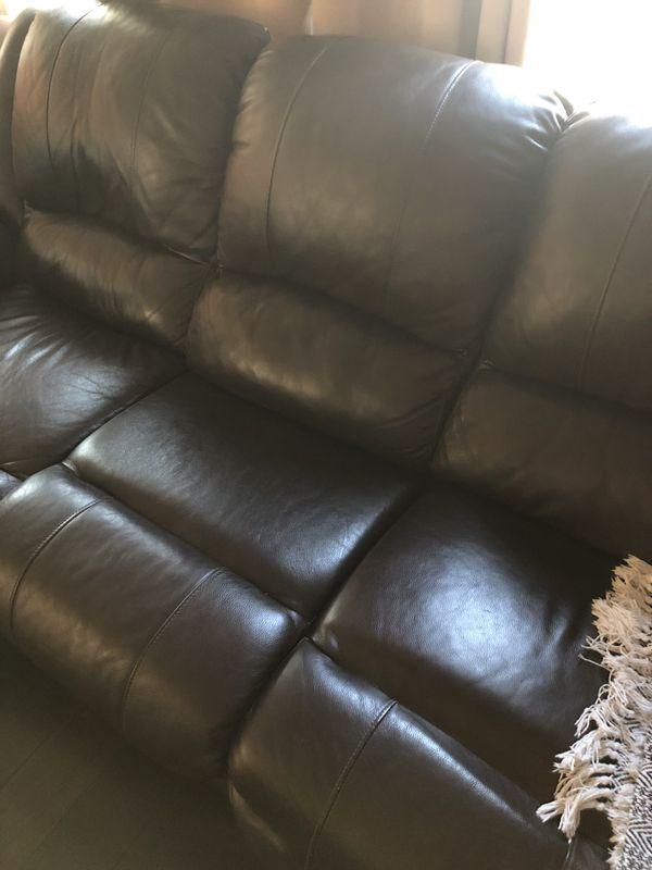Brown Power Recliner Sofa