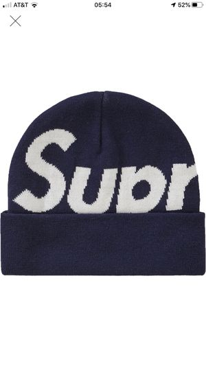 New Supreme Big Logo Beanie FW19 Navy for Sale in Rancho Mirage, CA