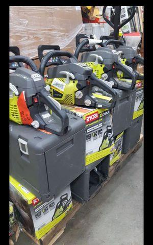 "RYOBI GAS 14""IN CHAINSAW LIKE NEW for Sale in San Bernardino, CA"