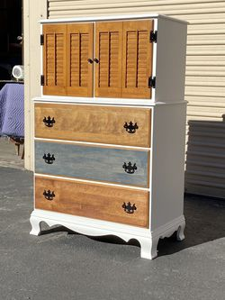 Refinished Solid Wood Tall Dresser for Sale in Chula Vista,  CA