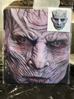 Murrieta (LOS ALAMOS & HANC0CK) BRAND NEW Halloween Night King White Walker Mask Full Face Mask for Costume. One size fits most. For Adults & Teens. for Sale in Murrieta, CA