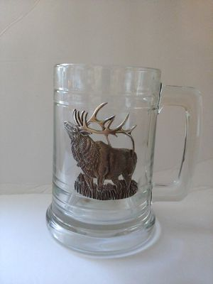 Tall Stein Mug. Heritage Pewter with Elk accent for Sale in Battle Ground, WA