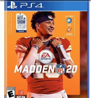 Madden 20 PS4 for Sale in North Attleborough, MA